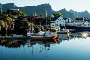 Fishing boats Reine Lofoten